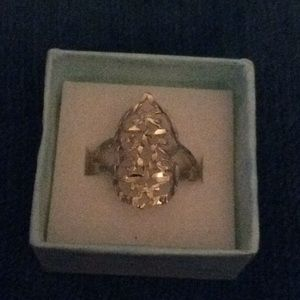 Sterling Silver Filigree Ring Size 8 1/2.
